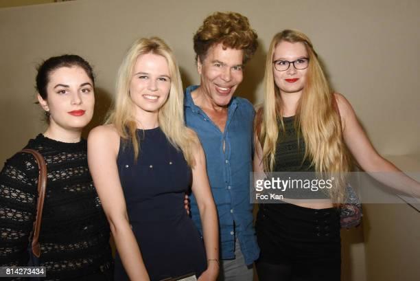 R Julie Jardon Igor Bogdanov and guests attend La Journee De La Mode Serbe at Ambassade de Serbie on July 13 2017 in Paris France