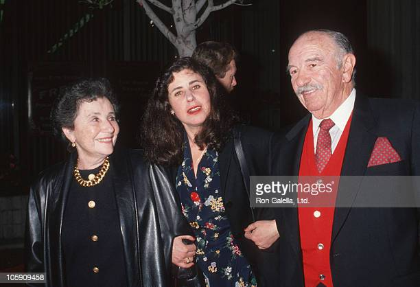 Julie Kavner and parents during Screening of 'This is My Life' February 18 1992 at AVCO Cinema in Westwood California United States