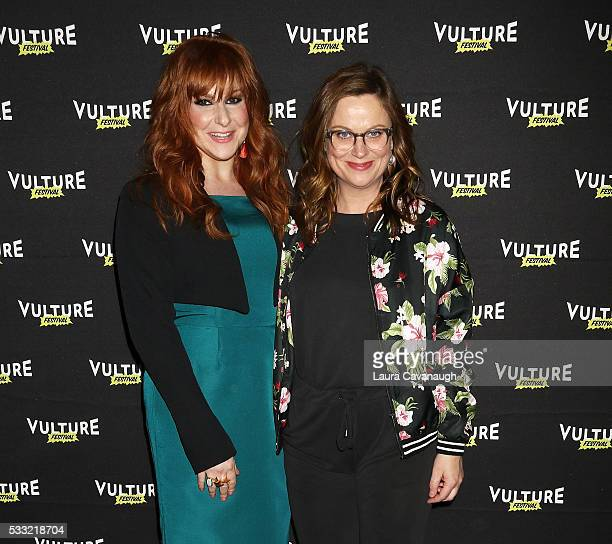 Julie Klausner and Amy Poehler attend 'Difficult People' Table Read 2016 Vulture Festival at Milk Studios on May 21 2016 in New York City