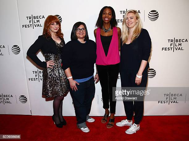 Julie Klausner Nahnatchka Khan Keli Goff and Liz Meriwether attends the Tribeca Daring Women Summit during the 2016 Tribeca Film Festival at Spring...