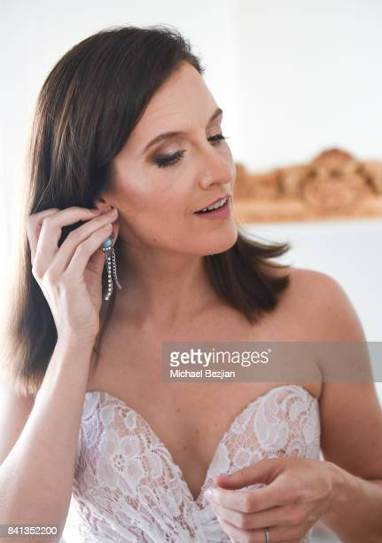Julie Lake wearing Dalia Mcphee dress and Xehar earrings TAP The Artists Project Style House on August 31 2017 in Los Angeles California