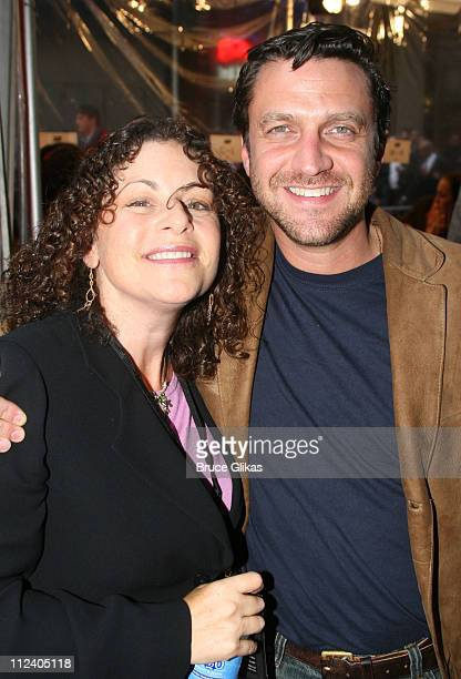 Julie Larson and Raul Esparza during 'Rent' Celebrates 10th Anniversary on Broadway April 24 2006 at The Nederlander Theater in New York New York...
