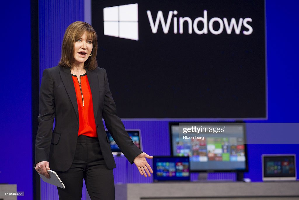Julie Larson Green, head of Windows for Microsoft Corp., speaks during the Microsoft Corp. Build Developers Conference in San Francisco, California, U.S., on Wednesday, June 26, 2013. Facebook Inc. is building an application for Microsoft Corp.'s Windows 8, adding one of the most popular programs still missing from the operating system designed to help Microsoft gain tablet customers. Photographer: David Paul Morris/Bloomberg via Getty Images