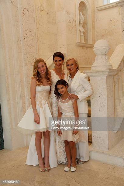 Julie Lemigova Martina Navratilova and daughters Emma and Victoria attend at the Martina Navratilova and Julie Lemigova wedding reception on February...
