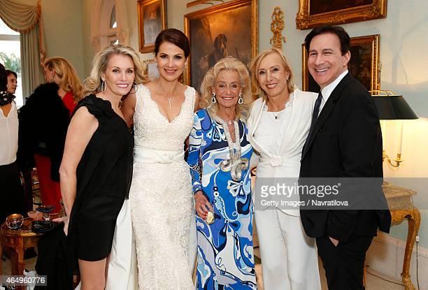 Julie Lemigova Terry Allen Kramer Martina Navratilova and guests attend the Martina Navratilova and Julie Lemigova wedding reception on February 14...