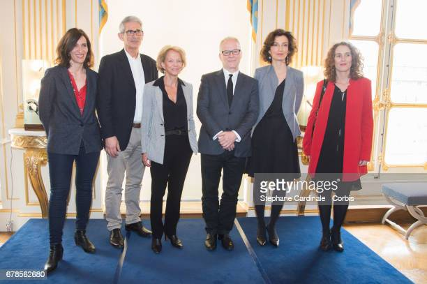 Julie Letiphu Charles Tesson President of CNC Frederique Bredin General Delegate of the Cannes Film Festival Thierry Fremaux French Minister of...