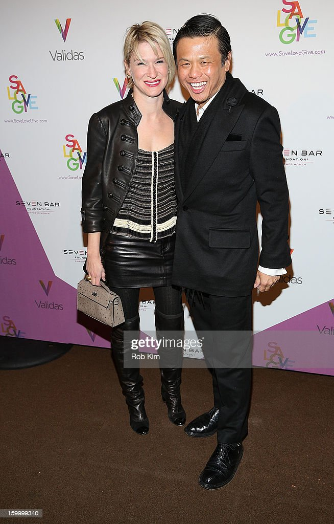 Julie Macklowe (L) and Zang Toi attend the Vera Launch at Ambassadors River View at the United Nations on January 24, 2013 in New York City.