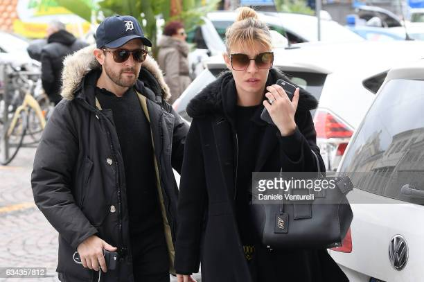 Julie Madon and Sveva Alviti are seen at 67 Sanremo Festival on February 9 2017 in Sanremo Italy