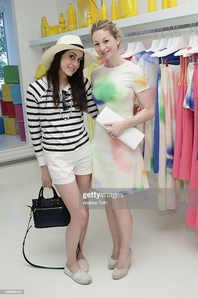 Julie Manheim (L) and Nora Silverman attend Hamptons Magazine celebrates The New Lisa Perry store on June 14, 2014 in East Hampton, New York.