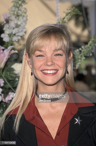 Julie McCullough during 1999 Playmate of the Year at Playboy Mansion in Beverly Hills California United States