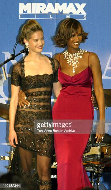 Julie Ordon and Iman during 2003 Cannes Film Festival Cinema Against Aids 2003 to benefit amfAR sponsored by Miramax Auction at Moulin de Mougins in...