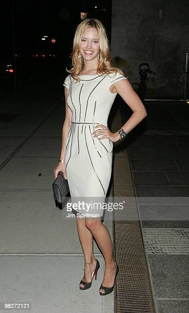 Julie Ordon attends the Cinema Society with UGG Suffolk County Film Commission's screening of 'Paper Man' at the Crosby Street Hotel on April 5 2010...