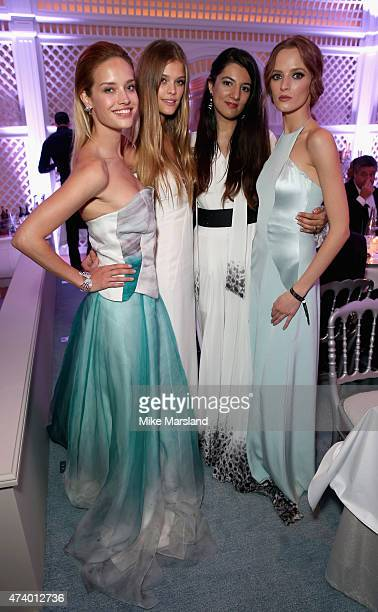 Julie Ordon Nina Agdal Gyunel Rustamova and Daria Strokous attend the De Grisogono Divine In Cannes Dinner Party at Hotel du CapEdenRoc on May 19...
