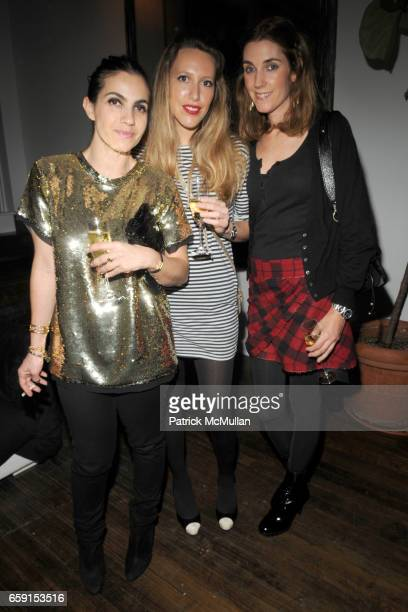 Julie Pailhas Marie Hugo and Carolyn Christiansson attend TEMPERLEY LONDON Fall 2009 Fashion Week Party at Temperly on February 18 2009 in New York...