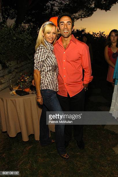 Julie Quinn and Francesco Quinn attend Judith Owen Patty and Andrew Freedman Melanie Greene Justin Charles Co host a party to celebrate HARRY...