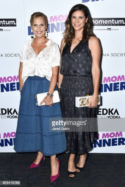 Julie Rudd and Naomi Scott attend Momentum Pictures with The Cinema Society SVEDKA host a screening of 'Fun Mom Dinner' at the Landmark Sunshine...