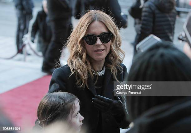 Julie Snyder attends the State Funeral Service for Celine Dion's husband Rene Angelil at NotreDame Basilica on January 22 2016 in Montreal Canada