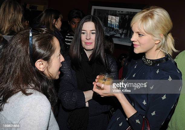 Julie Snyder Stephanie Ramsey and actress Georgia King attend the UK Film Brunch at Sundance 2013 Park City on January 20 2013 in Park City Utah