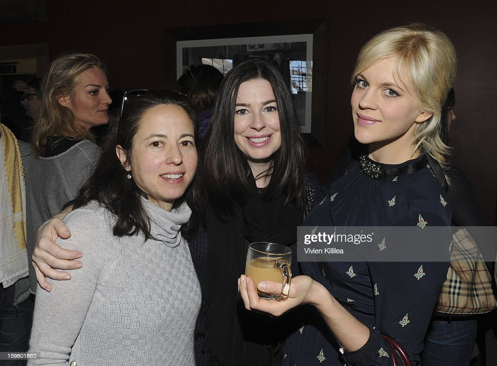 Julie Snyder, Stephanie Ramsey and actress <a gi-track='captionPersonalityLinkClicked' href=/galleries/search?phrase=Georgia+King&family=editorial&specificpeople=5846970 ng-click='$event.stopPropagation()'>Georgia King</a> attend the UK Film Brunch at Sundance - 2013 Park City on January 20, 2013 in Park City, Utah.