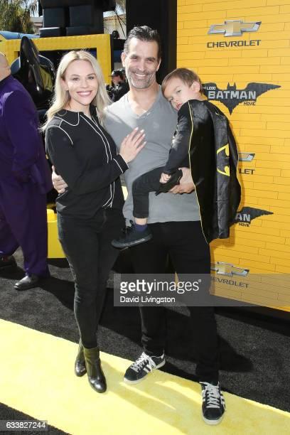Julie Solomon Johnathon Schaech and Camden Quinn Schaech attend the Premiere of Warner Bros Pictures' 'The LEGO Batman Movie' at the Regency Village...