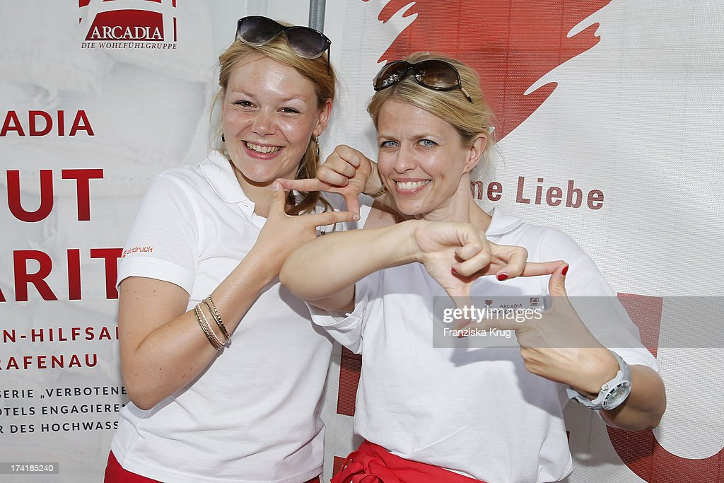 Julie Sonntag and Miriam Lahnstein attend the Charity Event Benefitting Flood Victims on July 20, 2013 in Grafenau, Germany.