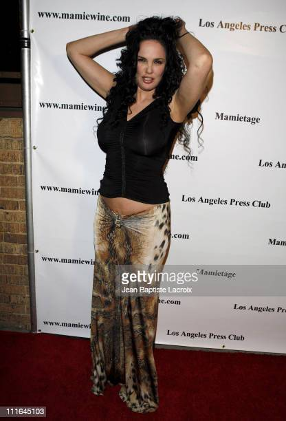 Julie Strain arrives at the National Launch event for Mamie Van Doren's new wine collection MAMITAGE at Eleven Club on November 14 2007 in West...