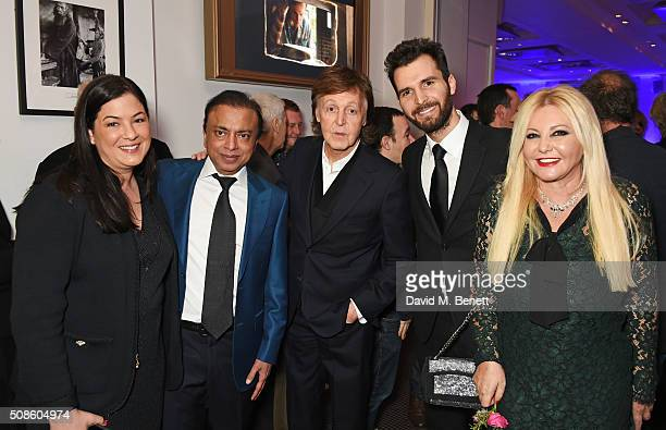 Julie Sultan Pramod Mittal Sir Paul McCartney Andrea Iervolino and Monika Bacardi attend a cast and crew screening of 'This Beautiful Fantastic' at...