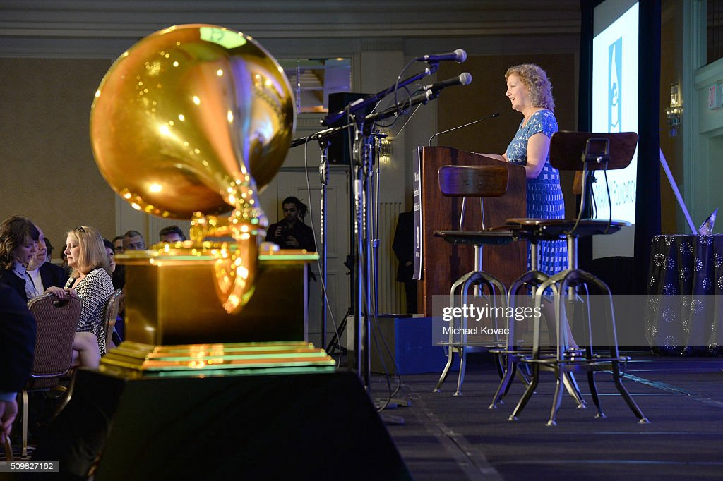 Julie Swidler, EVP, Business Affairs and General Counsel of Sony Muisic Entertainment, speaks onstage after being presented with the 2016 ELI Service Award at the The 58th GRAMMY Awards Entertainment Law Initiative at Fairmont Miramar Hotel on February 12, 2016 in Santa Monica, California.