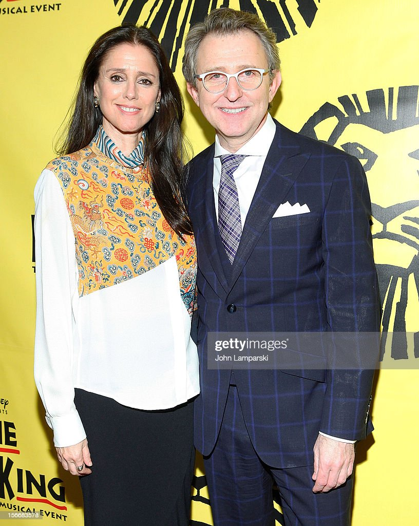 <a gi-track='captionPersonalityLinkClicked' href=/galleries/search?phrase=Julie+Taymor&family=editorial&specificpeople=227924 ng-click='$event.stopPropagation()'>Julie Taymor</a> and <a gi-track='captionPersonalityLinkClicked' href=/galleries/search?phrase=Thomas+Schumacher&family=editorial&specificpeople=2124335 ng-click='$event.stopPropagation()'>Thomas Schumacher</a> attends the 'The Lion King' On Broadway 15th Anniversary Celebration at the Minskoff Theatre on November 18, 2012 in New York City.