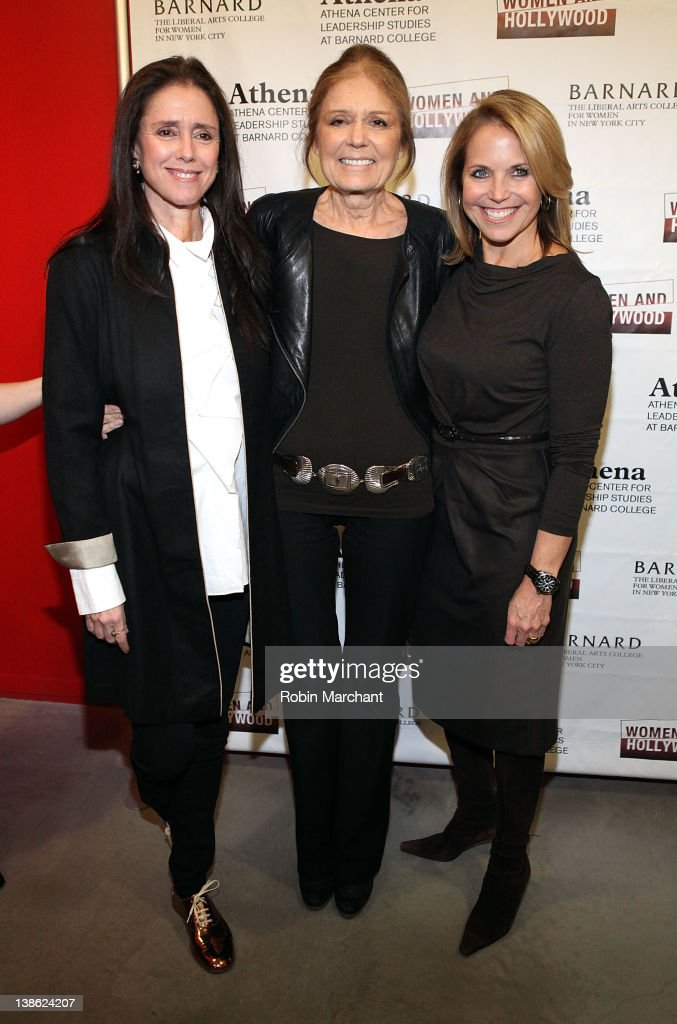 Julie Taymor Gloria Steinem and Katie Couric attend the 2012 Athena Film Festival A Celebration Of Women And Leadership Opening Night Reception at...
