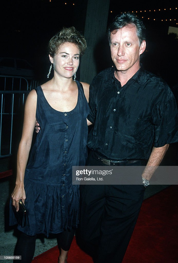 Julie Tesh and James Woods during 'Postcards From the Edge' Los Angeles Premiere at Cineplex Odeon Century Plaza Cinemas in Los Angeles, California, United States.