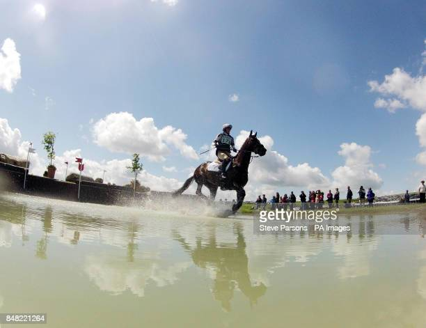 Julie Tew riding Floating Island during day two of the Barbury International Horse Trials at Barbury Castle Estate Wiltshire