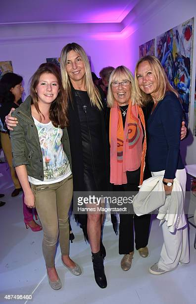 Julie Valerien Tanja ValerienGlowacz Randi Valerien and Sybille Beckenbauer during the 'Susanne Wiebe Fashion Art Show' on September 9 2015 in Munich...