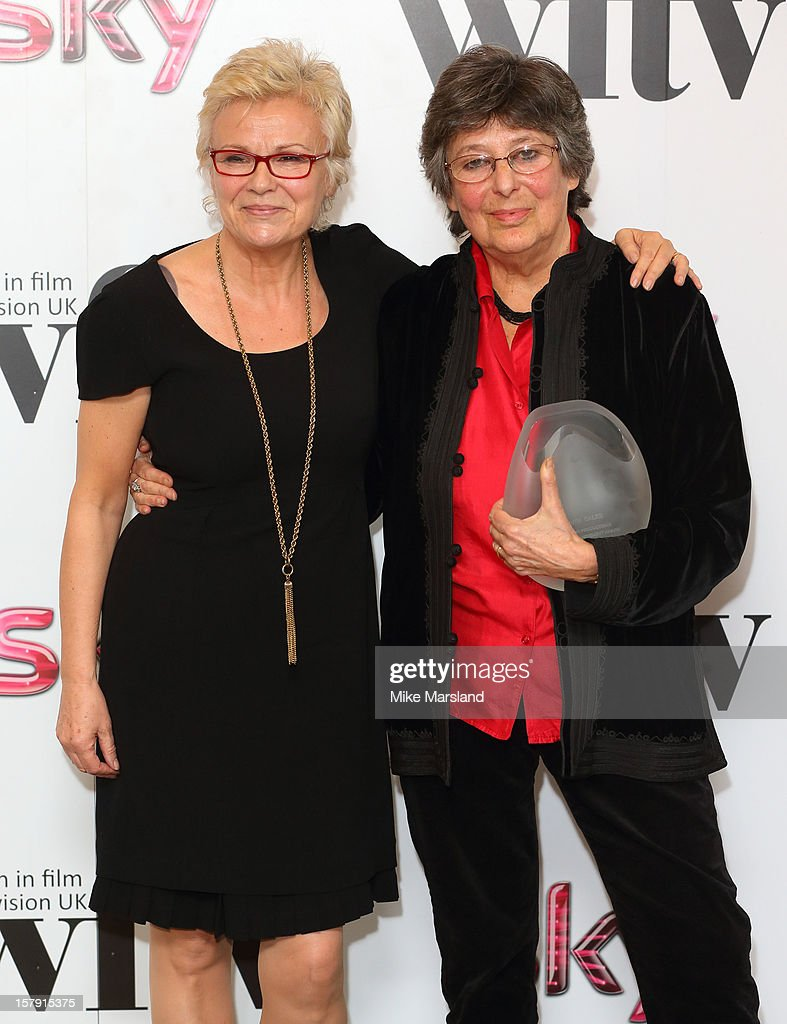<a gi-track='captionPersonalityLinkClicked' href=/galleries/search?phrase=Julie+Walters&family=editorial&specificpeople=206570 ng-click='$event.stopPropagation()'>Julie Walters</a> and Ruth Caleb attend the Women in TV & Film Awards at London Hilton on December 7, 2012 in London, England.