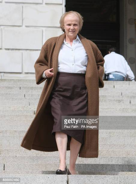 Julie Walters as Mo Mowlan former Secretary of State for Northern Ireland during filming at Stormont for Channel 4 drama 'Mo'