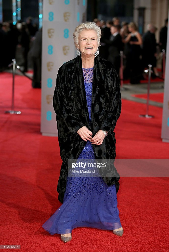 <a gi-track='captionPersonalityLinkClicked' href=/galleries/search?phrase=Julie+Walters&family=editorial&specificpeople=206570 ng-click='$event.stopPropagation()'>Julie Walters</a> attends the EE British Academy Film Awards at The Royal Opera House on February 14, 2016 in London, England.