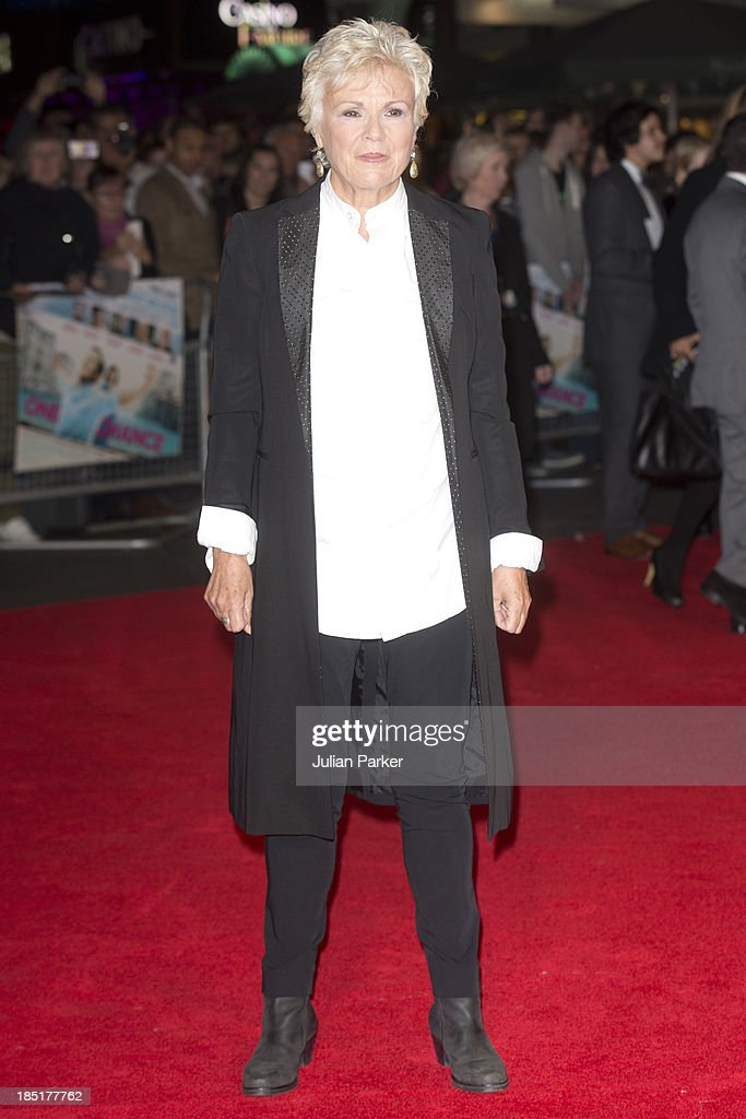 <a gi-track='captionPersonalityLinkClicked' href=/galleries/search?phrase=Julie+Walters&family=editorial&specificpeople=206570 ng-click='$event.stopPropagation()'>Julie Walters</a> attends the European premiere of 'One Chance' at Odeon Leicester Square on October 17, 2013 in London, England.