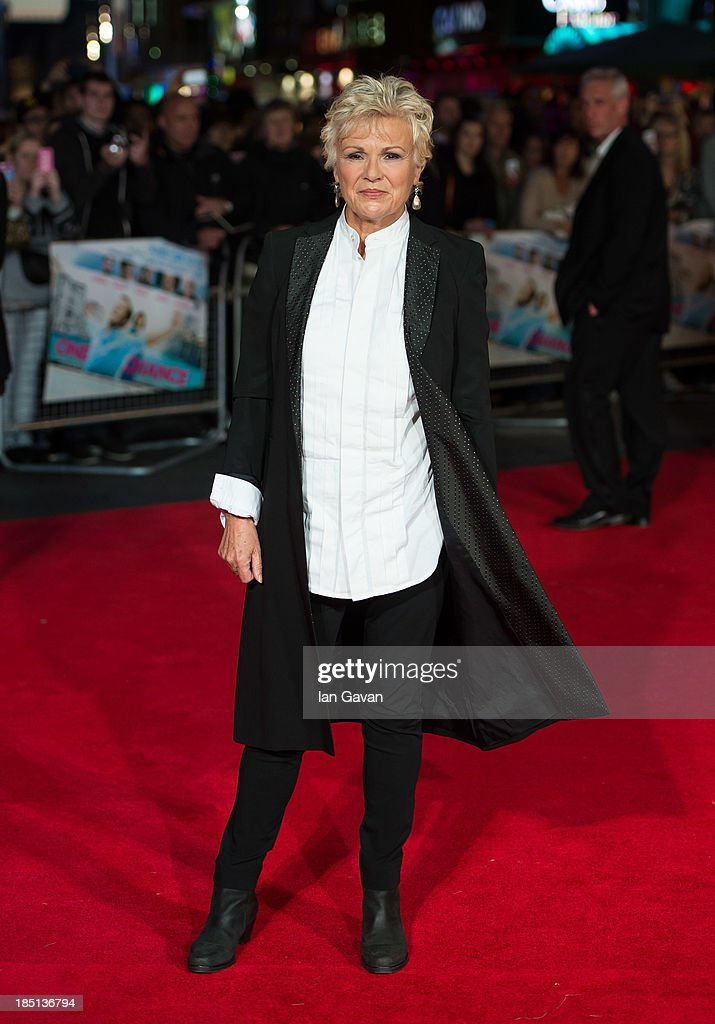 <a gi-track='captionPersonalityLinkClicked' href=/galleries/search?phrase=Julie+Walters&family=editorial&specificpeople=206570 ng-click='$event.stopPropagation()'>Julie Walters</a> attends the European premiere of 'One Chance' at The Odeon Leicester Square on October 17, 2013 in London, England.