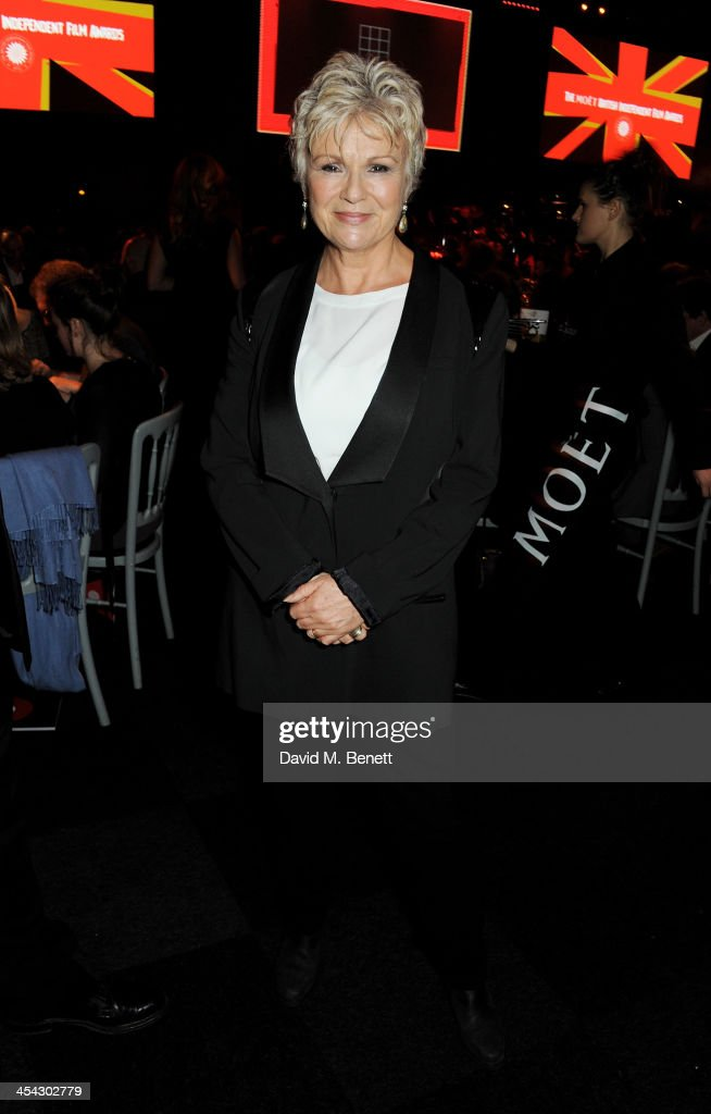 <a gi-track='captionPersonalityLinkClicked' href=/galleries/search?phrase=Julie+Walters&family=editorial&specificpeople=206570 ng-click='$event.stopPropagation()'>Julie Walters</a> attends the Moet Reception at the Moet British Independent Film Awards 2013 at Old Billingsgate Market on December 8, 2013 in London, England.