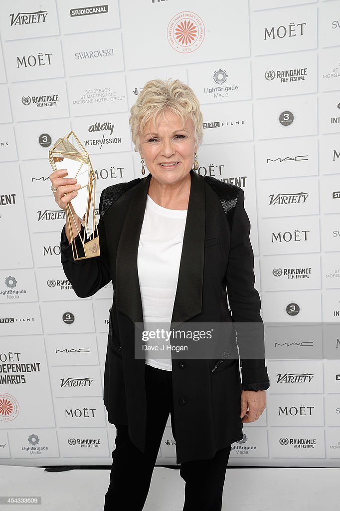 Julie Walters Winner of the Richard Harris Award attends the Moet British Independent Film Awards 2013 at Old Billingsgate Market on December 8, 2013 in London, England.