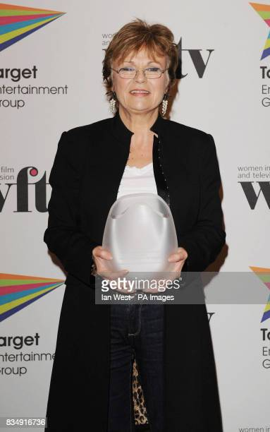 Julie Walters wins the Working Film Lifetime Achievement award at the Target Women in Film and Television awards at the Hilton Hotel in central London