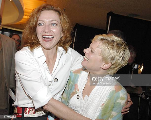 Julie White and Martha Plimpton during 61st Annual Tony Awards Press Reception at Marriott Marquis in New York City New York United States