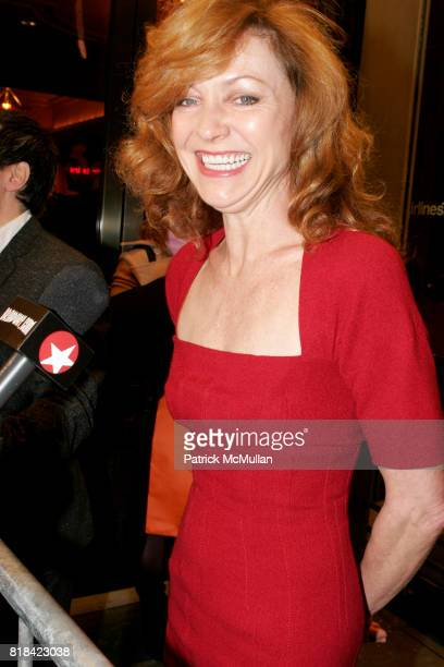 Julie White attends Opening Night of Present Laughter at American Airlines Theater on January 21 2010 in New York City