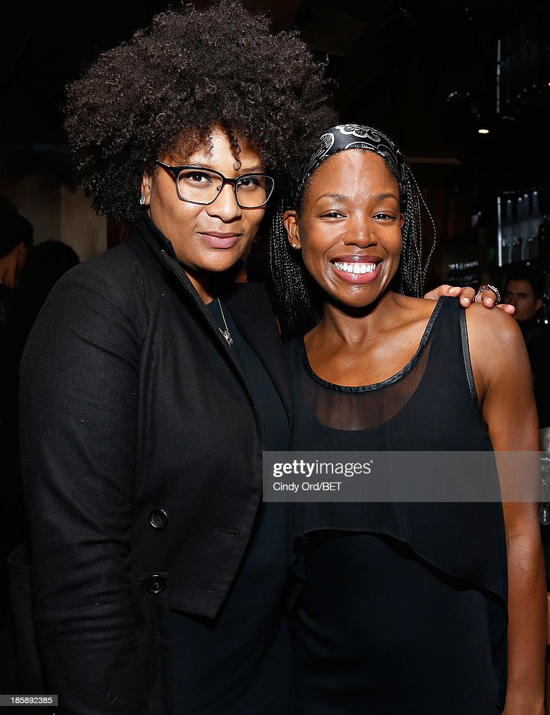 Julie Wilson (L) and guest attend the 2013 Black Girls Rock Shot Callers Dinner on October 25, 2013 in New York City.
