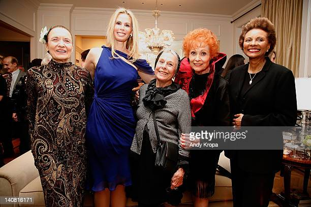 Julie Wilson Patty Farmer Marge Champion Carol Lawrence and Leslie Uggams attend 'The Persian Room Presents' gala at The Plaza Hotel on March 6 2012...