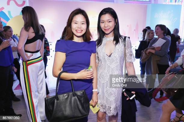 Julie Yoo and Dana Shen attend Brit Co Kicks Off Experiential PopUp #CreateGood with Allison Williams and Daphne Oz at Brit Co on October 4 2017 in...