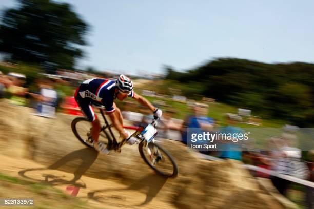 Julien Absalon Competion Test de VTT a Hadleigh Farm Lieu de Competition des prochains Jeux Olympiques 2012 a Londres Hadleigh Country Park