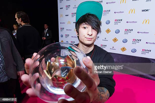 Julien Bam attends the 1Live Krone 2015 at Jahrhunderthalle on December 3 2015 in Bochum Germany