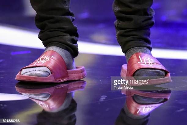 Julien Bam shoe detail during the Deutscher Webvideopreis 2017 at ISS Dome on June 1 2017 in Duesseldorf Germany