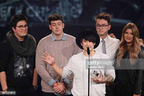 Julien Bam wins the 1Live Krone at Jahrhunderthalle on December 1 2016 in Bochum Germany